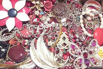 Huge Some Signed Vintage - Now Unsearched Wear No Junk Jewelry Lot Lbs Pounds G