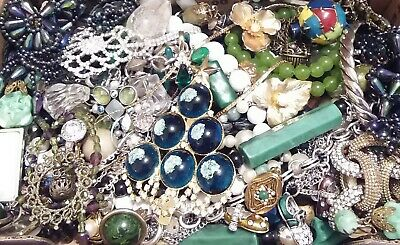 Huge Some Signed Vintage - Now Unsearched Wear No Junk Jewelry Lot Lbs Pounds H