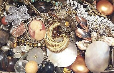 Huge Some Signed Vintage - Now Unsearched Wear No Junk Jewelry Lot Lbs Pounds I
