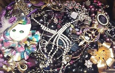 Huge Some Signed Vintage - Now Unsearched Wear No Junk Jewelry Lot Lbs Pounds J
