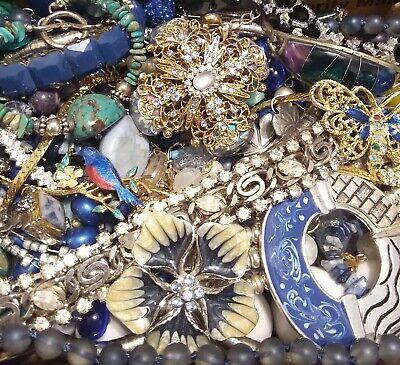 Huge Some Signed Vintage - Now Unsearched Wear No Junk Jewelry Lot Lbs Pounds L