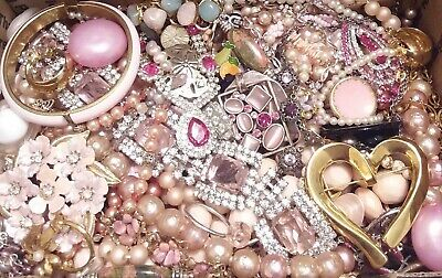 Huge Some Signed Vintage - Now Unsearched Wear No Junk Jewelry Lot Lbs Pounds N