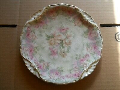 Royal Bayreuth Tapestry Rose Luncheon Plate Pink and Yellow Roses