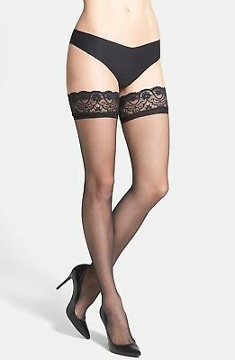 01bea779d Commando Up All Night Sheer Thigh High Stockings M L Nwt New Black tights  Nylons