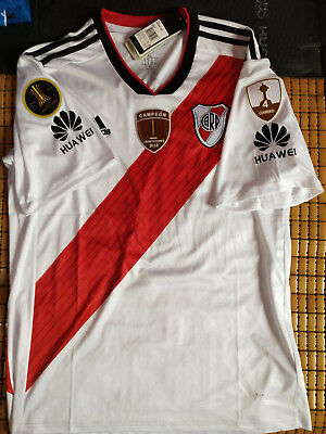 70eb39218 2018 River Plate Copa Libertadores Home Soccer Jersey And Champion patch