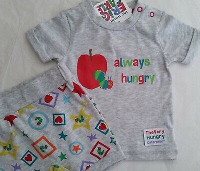 THE VERY HUNGRY CATERPILLAR Boy Licensed 2pc set t tee shirt pants NEW sz 000-1