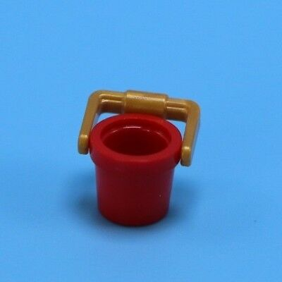 Bucket With Handle 2 x LEGO Minifigure 95343 Bucket Red Container