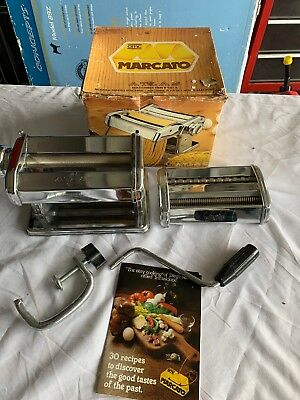 Marcato Atlas 150 Pasta Maker Stainless Steel Made in Italy Noodle Machine