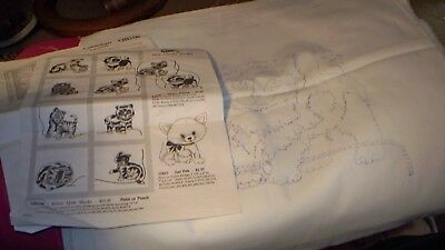 1992 Cameo -QB108 - KITTEN Quilt Blocks - To Paint or Punch
