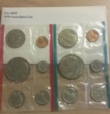 1978 Philadelphia and Denver US Mint Uncirculated Coin Set- 12 Coins