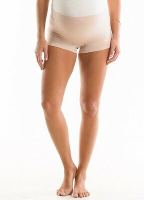 QueenBee® - Nyla Seamless Maternity Pregnancy Ladies Shorts in Nude