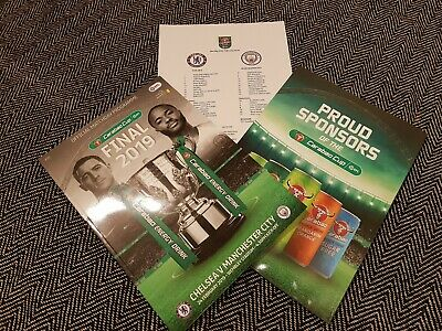 Chelsea vs Manchester City CARABAO CUP FINAL 24/02/2019 with teamsheet!