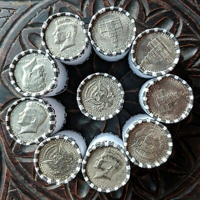 Unsearched Half Dollar Coin Roll  - Bank Sealed Lot - Ten Rolls - Free Shipping