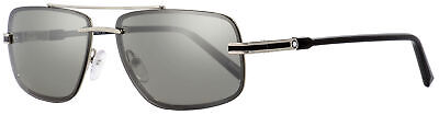13abfda22 MONTBLANC RIMLESS SUNGLASSES MB658S 16C Palladium/Black 59mm 658 ...