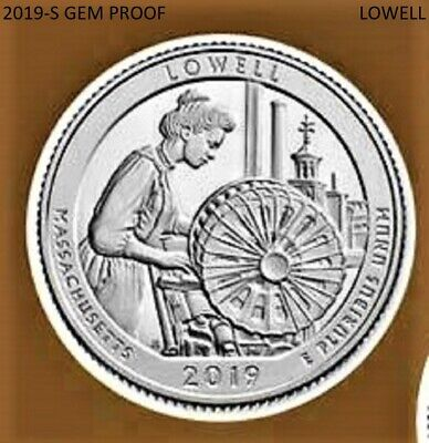 2019-S (Gem Clad Proof *lowell*  Quarter) - (***low Shipping***)