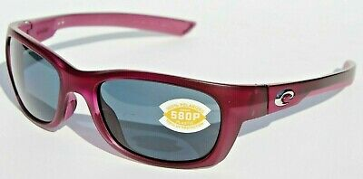 21c2afab94 COSTA DEL MAR Trevally POLARIZED Sunglasses Matte Orchid Purple Gray 580P  NEW