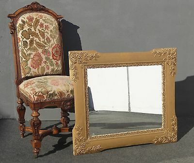"""Antique Vintage Ornate Gold Wall Mantle MIirror  30"""" x 34"""""""