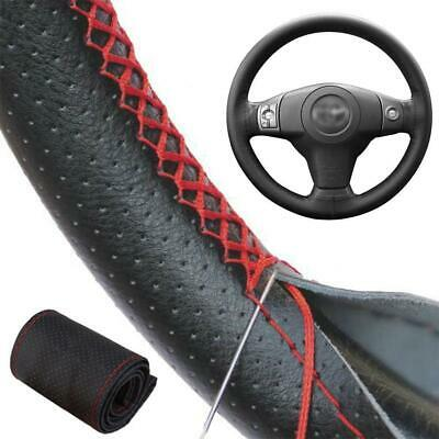 Universal Car Van Steering Wheel Cover Anti-Slip Skin With Needles & Thread Set