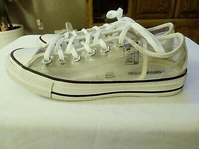 Details about Converse Chuck Taylor All Star Clear Low Top Sneaker Transparent Womens 9 Mens 7