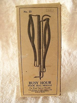 Busy Hour Hook Rug Needle No. 23 for Wool Yarn or Chenille