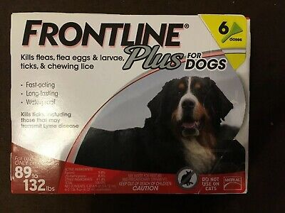Frontline Plus For Dogs 89-132 Lbs Large 6 Months of Use NEW!