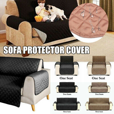 Reversiblle Quilted Sofa Chair Cover Lounge Seater Pet Dog Protector Slip Cover