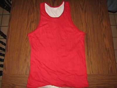 Vintage 60's 70's Tank Top jersey reversible red white Southern Athletic mens M