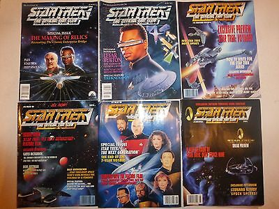 Lot of 17 Star Trek the Official Fan Club Magazine #90, 94-108, 123,  MS