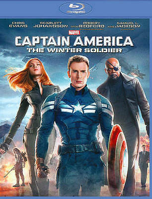 Captain America The Winter Soldier Blu-ray Disc Chris Evans Anthony Mackie