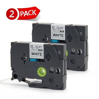 2 PK TZ 231 Compatible for Brother P-Touch Label Tape TZe231 Black on White 12mm