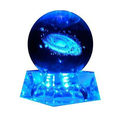 Crystal Ball 3D Engraved Quartz Glass Ball Sphere Home Decoration Accessories