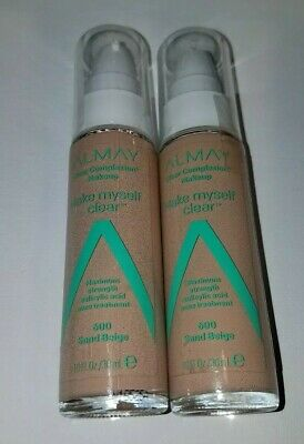 aa22ebe73 Lot of 2, Almay Clear Complexion Make Myself Clear Makeup, 600 Sand Beige