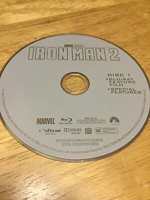 """Iron Man 2"" Starring Robert Downey Jr. Blu-Ray DISC ONLY - FREE SHIPPING"