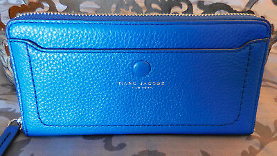 c71b4c5af0 MARC JACOBS ~Pebbled Leather EMPIRE CITY Large Zip Wallet ~ULTRA BLUE~ NWT  $200