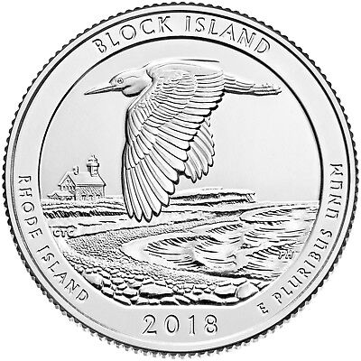 2018 Block Island National Wildlife Refuge (Rhode Island) P&d Set ***in-Stoc****