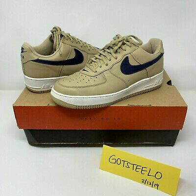 newest collection a822d b4a5e Nike Air Force 1 Low Mushroom co.jp size 9.5 AF1 Midnight Navy Linen Atmos