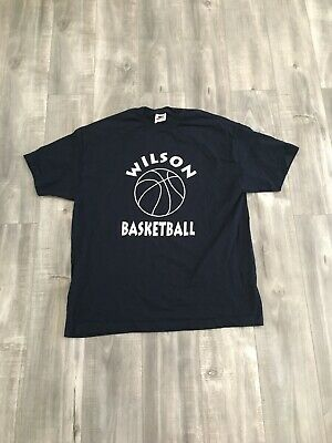 913db80ba304d VINTAGE 90S NIKE Wilsons Basketball Clinic Tee Shirt Size XL Made In ...