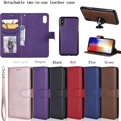 Luxury Detachable Magnetic PU Leather Flip Stand Case Cover For Motorola LG Sony