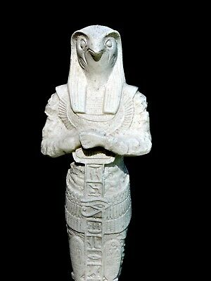 HUGE Egyptian Hand Carved Granite Sculpture Horus Statue Judgment Of The Pharaoh