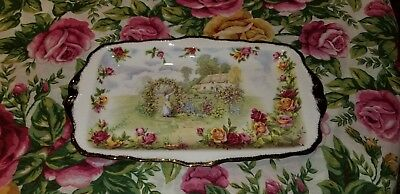 ROYAL ALBERT OLD COUNTRY ROSES 25th anniversary celebration plate