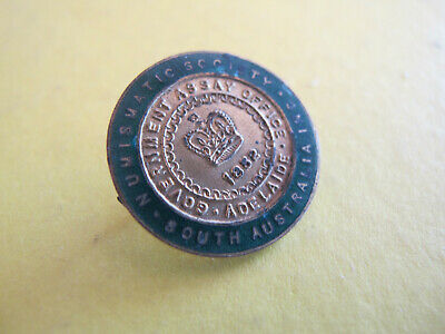 Coin Collecting Numismatic Society of South Australia Enamel Badge