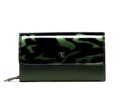 f0defcc86e Trussardi Jeans 75W00096/g260 Paprika Patent Ecoleather Continental Wallet  Green
