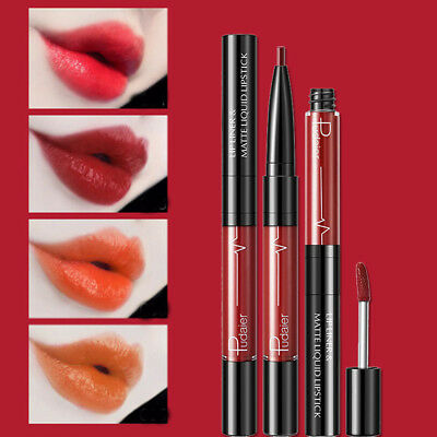 2 In 1 Double-end Lip Liner Matte Lasting Lip Gloss Lipstick Cosmetic 16 Colors