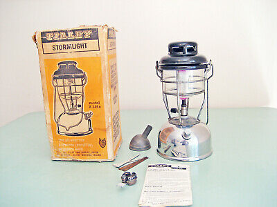 VINTAGE TILLEY MODEL X246b KEROSENE PRESSURE LANTERN LAMP ANTIQUE LIGHT IN BOX