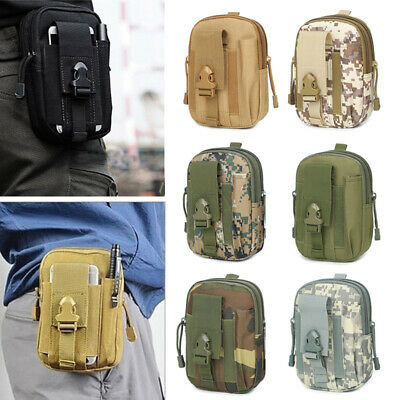 Man Tactical Molle Pouch Belt Waist Fanny Pack Bag Military Phone Pocket