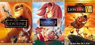The Lion King 1, 1.5, and 2 (Trilogy )Brand New 3-DVD Set !