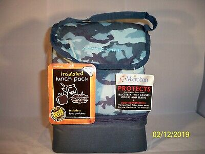 Arctic Zone Insulated Lunch Tote Bag Box Hamburger Cheese Leak Proof Round New