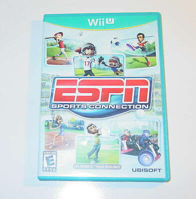 ESPN Sports Connection (2012) Nintendo Wii U Wiiu Game Complete Good Condition