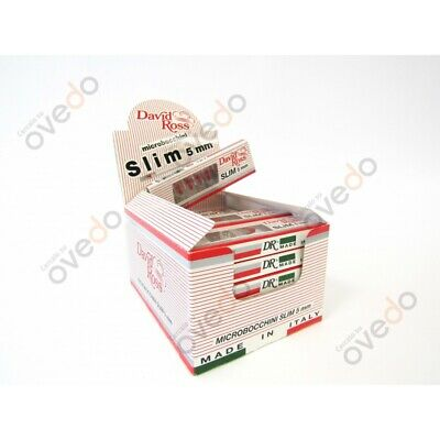 Microbocchini David Ross Slim 5 mm 240 in 24 blister da 10 + Accendino