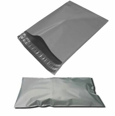 """100 BAGS 9"""" x 12"""" Strong Mailing Poly Postage QUALITY Bags Grey Self Seal"""